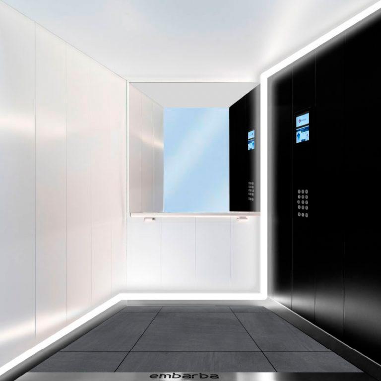 cabina-ascensor-embarba-diseño-ACERO-negro